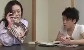 Japanese Asian Mom and Son drunken Constant Fuck