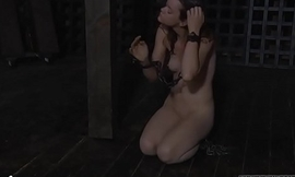Tormenting babe'_s immodest cleft with toy