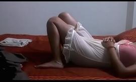 Desi Bhabhi Shilpa Aunty In Sexy Crestfallen Nighty Waiting Nearly Get Fucked