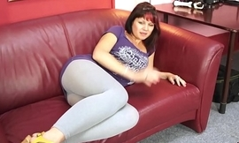 FakeShooting  Busty fat babe jump on cock in a second on fake casting