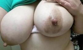 Milking my big tits
