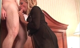 Blonde chick got group-fucked and pussy
