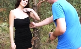 MyFirstPublic  Unexpected fuck in public for young curly hair brunette