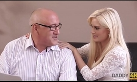 DADDY4K. Extravagant blonde looked-for to essay copulation with elder statesman partner