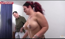 German amateur housewife receives shared with a Stranger