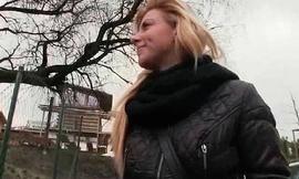 Slutty blonde Czech babe is paid cardinal stranger some crazy public lovemaking 10