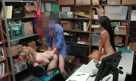 Perky tits blonde threesome with brunette friend and the manager8hd-3