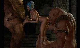 3D Ogres Fuck Elf Girls!