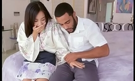 Oriental Cutie Mila Gouge out Gropes Landlords Chubby Cock