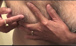 mature daddy bringing off with my bushwa inflicting some oil plus cumshot
