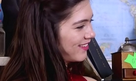 Cute hairy lesbian Dusty licked and rimmed