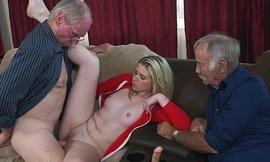 Grandpas Educating Young Girl Through Experience (bpm15732)
