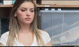 Shoplyfting super model Summer Brooks fucked in office