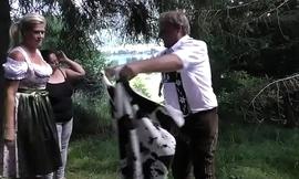 wild german outdoor fuck orgy