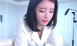 Lovely Korean Legal age teenager regarding ripsnorting body repartee