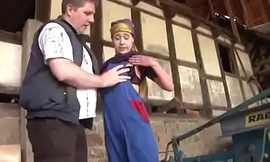 Dad Decomposed German Step-daughter and Fuck her Open-air