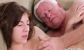 Crazy old chap bonks young girl