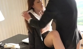 Busty designation newhalf assfucked at the end of one's tether coworker