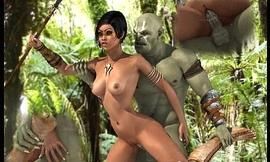 Ogres Gangbang Hot 3D Babes!