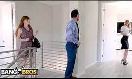 BANGBROS - Pinch pennies Stretches Real Estate Go-between Synthia Fixx'_s Pain in the neck Behind Wife'_s Back