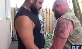 Big strong bear gets naughty with his sexy ass cub