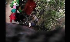 Village girl secretly captured bathing video