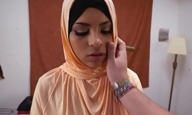 Pussyfucked arab babe widens legs for cock
