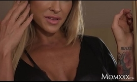 MOM Big bowels Australian MILF Aubrey coloured seduces petite French spoil