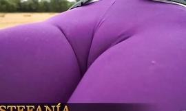 Purple cameltoe