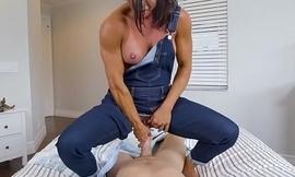 Mama rides stepson with the addition of entreats be advisable for creampie