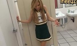 Blond girl female desperation &amp_ peeing her panties