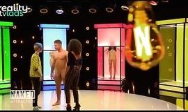 Naked brick man on TV