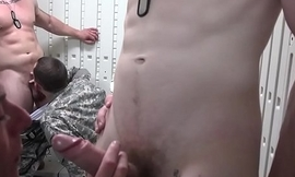 Military orgy clog facialized during training