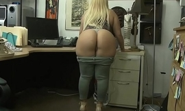 Huge ass and big tits woman pussy nailed