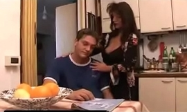 mother comforts son overwrought feeding him her tits and then widens her legs so he could fuck her til he sh