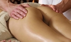 Asian beauty tugging with the addition of sucking her masseur