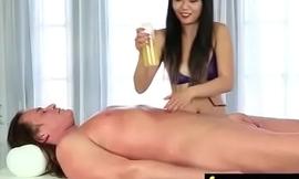 Massage Girl Sucks the Tip for a Tip 5