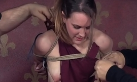 Restrained occupy a seat on brutally spanked away from dominant