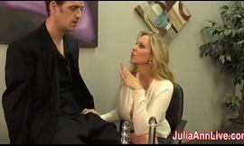 Titillating Milf Julia Ann Milks Him overhead Date Night!