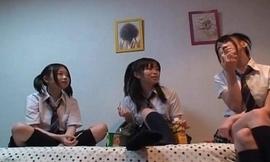 One cute Japanese girlfriends warm