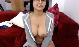 MIA KHALIFA - Gorgeous Arab Pornstar Solo Masturbation on Red Couch