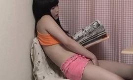 Young Japanese Babe Masturbating