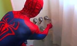 Spiderman Takes A Bath! Spiderman Bath time! Superhero Fun in Real Life