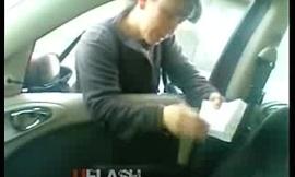 dick flash in car survey girl