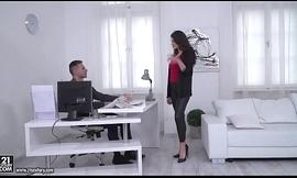 Francesca Dicaprio cede to her boss fuck her pest